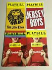 Playbills, Lion King, KInky Boots. Jersey Boys, Matilda, Broadway