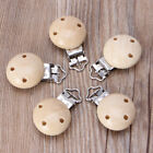 Внешний вид - 5pcs Baby Pacifier Clip Holder Soother Pacifier Solid Color Infant Clips Clasps