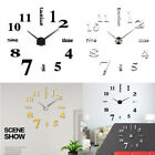 Modern DIY Large Wall Clock 3D Mirror Surface Sticker Home Decoration Art Design
