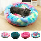 Pet Cat Dog Round Bed Nest Warm Long Plush Cushion Mat Cave Kennel House 03