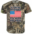 USA Love it or Leave Trump 2020 American Flag Tee Mossy Oak T-shirt for sale  Shipping to South Africa