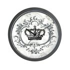 CafePress Vintage French Shabby Chic Crown Wall Clock (881617395)