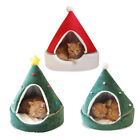 Christmas Cat Bed House Soft Nest Bed Dog Cat Tree Shape Pet Cat House Home Bed