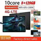 """10.1"""" 4g-lte 128gb Tablet Wifi Wlan Tablet Pc 10 Core Android 8.0 Dual Camera Us"""