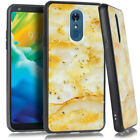 LG Stylo 4 Chrome Flake Marble Case Protective Cover