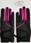 New Women-Kids Horse Riding Gloves Leather Grip Equestrian Pink Black Horse Back