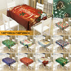 Christmas Printed Waterproof Table Cloth Table Runner Dust-proof Table Covers