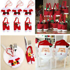 Christmas tableware Santa Suit Silverware Cutlery holder Bag Table Decorations