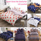Soft Floral Quilt Duvet Cover Set Bedding Set Flat Sheet Pillowcase Twin Queen image