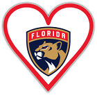 "Florida Panthers Heart NHL Sport Car Bumper Sticker Decal  ""SIZES"" $4.25 USD on eBay"