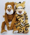 Lanky Lion Tiger Soft Dog Toys Toy Squeaker Puppy Puppies B9