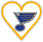 "St. Louis Blues Heart NHL Sport Car Bumper Sticker Decal ""SIZES"" $4.25 USD on eBay"