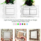 Light Switch Stickers Double or Single Socket Plate Cover Decor