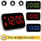 Home Decor LED Digital Alarm Clock Snooze Night Backlight Desktop Table Clock