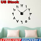Bedroom DIY Wall Clock Eastern Arabic Numerals Room Wall Sticker Home Decor USA