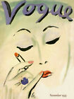 Vogue Cover Fashion Lady Girl Face 1933 Designs Vintage Poster Repro FREE S/H
