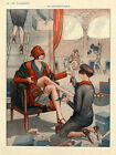Vie Parisienne Cover Fashion Lady Buying Shoes Vintage Poster Repro FREE S/H