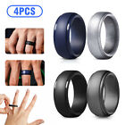 Kyпить 4-Pcs Silicone Wedding Ring Men / Women Rubber Band Flexible Lifestyle Size 8-12 на еВаy.соm