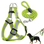 Step-in Dog Harness&Walking Leash No Pullig Reflective Nylon Dog Vest Leads HA2X