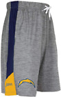 Zubaz NFL Football Mens Los Angeles Chargers Gray Space Dye W/Solid Stripe Short $24.99 USD on eBay