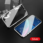 Magnetic Adsorption Double Side Glass Case Cover Fits iPhone XR Xs Max 6/7/8Plus