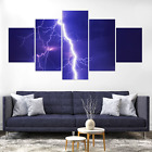 Thunder Thunderstorm Lightning Flash Canvas Print Painting Hom Decor Wall Art Pi