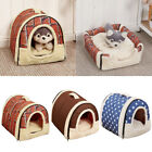 Washable Dog Pet Cats Bed House Portable Puppy Warm Kennel Cave Pad Cushion