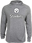 Zubaz NFL Football Men's Pittsburgh Steelers Tonal Gray Lightweight Hoodie $34.99 USD on eBay