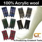 Scottish Kilt Long Hose Socks  Flashes Various Tartan Traditional Highland Wear