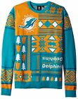 Klew NFL Men's Miami Dolphins Patches Ugly Sweater, Green $39.95 USD on eBay