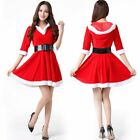 Ladies Mrs Claus Miss Santa Costume Christmas Fancy Dress Womens Outfit