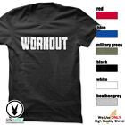 WORKOUT Gym Rabbit T-Shirt Workout Gym Fitness Weightlifting Motivation E204 image