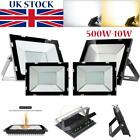 LED Floodlight 10/20/30/50/100/150/200/300/500W Outdoor Security Garden Lamp UK
