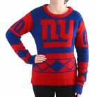 FOCO NFL Women's New York Giants Eyelash Ugly Sweater $34.95 USD on eBay