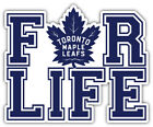 "Toronto Maple Leafs For Life NHL Sport Car Bumper Sticker Decal ""SIZES'' $4.25 USD on eBay"