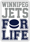 "Winnipeg Jets For Life NHL Sport Car Bumper Sticker Decal ""SIZES'' $4.5 USD on eBay"