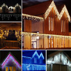 Connectable 5M-25M Icicle Snowing Falling Christmas Outdoor LED Fairy Lights US