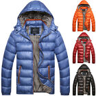 Plus Size Men Padded Bubble Waterproof Hooded Parka Warm Puffer Quilted Jacket