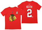 Reebok NHL Boys Youth Chicago Blackhawks Duncan Keith #2 Short Sleeve Tee, Red $12.99 USD on eBay