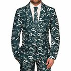 FOCO NFL Men's New York Jets Repeat Logo Ugly Business Suit - 3 Piece Set $59.95 USD on eBay