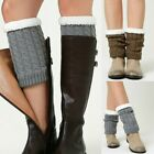 Ladies Crochet Legs Warmers Trim Winter Knitted Boot Cuffs Toppers Socks Fashion
