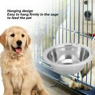 M/L Stainless Steel Hanging Bowl Feeding Bowl Pet Bird Dog Food Water Cage Cup