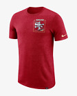 Nike San Francisco 49ers NFL Men's T-Shirt M  XL Heather Gym Red Gym Casual Top $29.95 USD on eBay