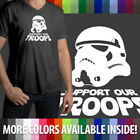 Support Our Troops Star Wars Stormtrooper Ultra Soft Mens/Unisex V-Neck T-Shirt $13.87 USD on eBay