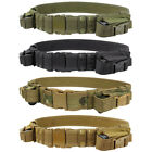 Condor Outdoor Adjustable Nylon Tactical Belt w 2x Utility Pistol Mag Pouches TB