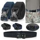 Men's Outdoor Tactical Military Combat Canvas Nylon Belt Buckle Strap Waistband