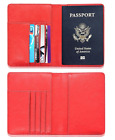 Slim Leather Travel Passport Wallet Holder RFID Blocking ID Card Case Cover US <br/> ❤ RFID BLOCKING! ❤ FAST SAME DAY TRACKING! ❤ LEATHER! ❤