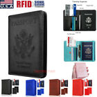 Kyпить Slim Leather Travel Passport Wallet Holder RFID Blocking ID Card Case Cover US на еВаy.соm