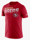 Nike San Francisco 49ers Sideline Line Legend T-Shirt S M Red Gym Casual New $39.95 USD on eBay