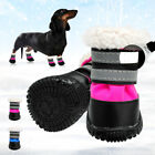Waterproof Pet Dog Shoes Anti-slip Snow Boots Booties Warm Fleece Lined Footwear
